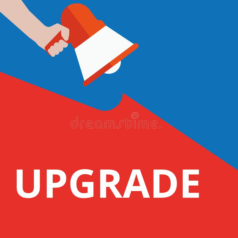 Word writing text Upgrade. Vector illustration stock illustration
