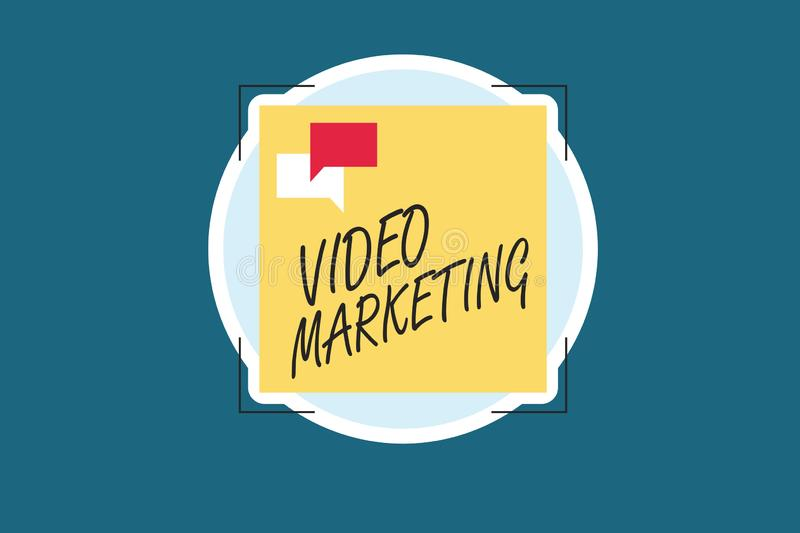 Word writing text Video Marketing. Business concept for create short videos about specific topics using articles.  vector illustration