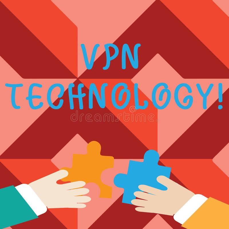 Word writing text Vpn Technology. Business concept for programming that creates a safe and encrypted connection Two vector illustration