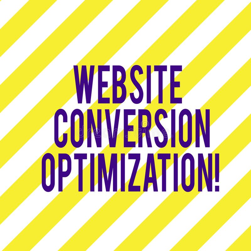 Word writing text Website Conversion Optimization. Business concept for System for increasing website visitors Diagonal Twotone. Lines photo Forming Triangular stock illustration