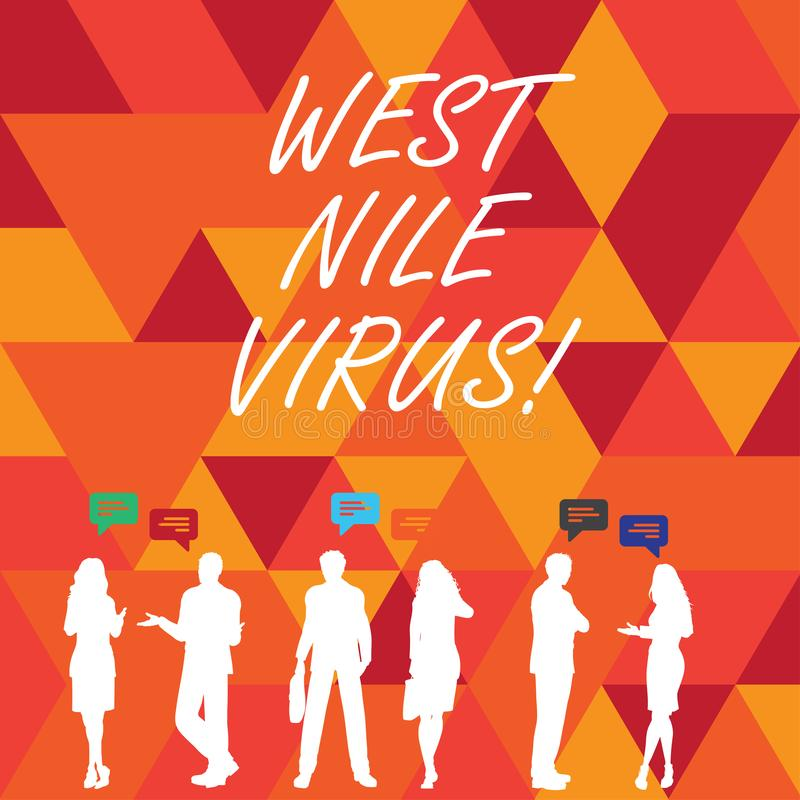 Word writing text West Nile Virus. Business concept for Viral infection cause typically spread by mosquitoes. Word writing text West Nile Virus. Business vector illustration