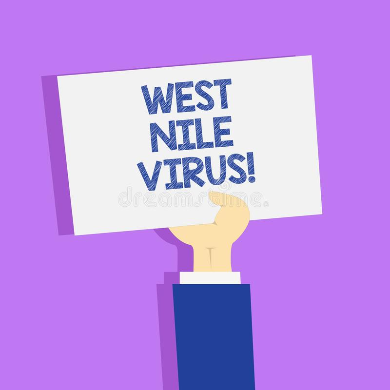 Word writing text West Nile Virus. Business concept for Viral infection cause typically spread by mosquitoes. Word writing text West Nile Virus. Business royalty free illustration