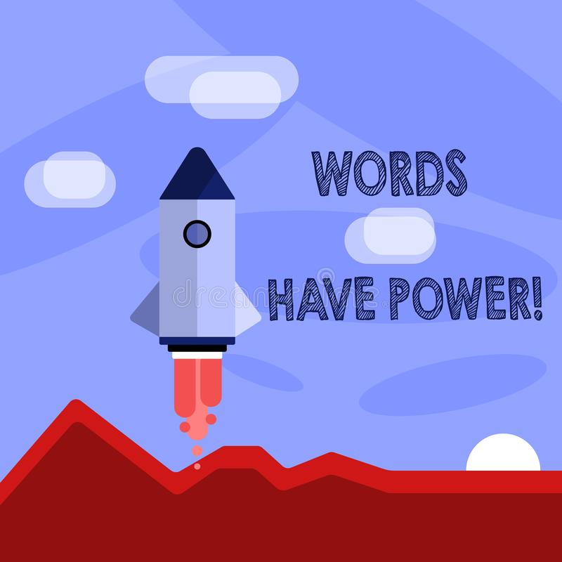 Word writing text Words Have Power. Business concept for as they has ability to help heal hurt or harm someone Colorful royalty free illustration