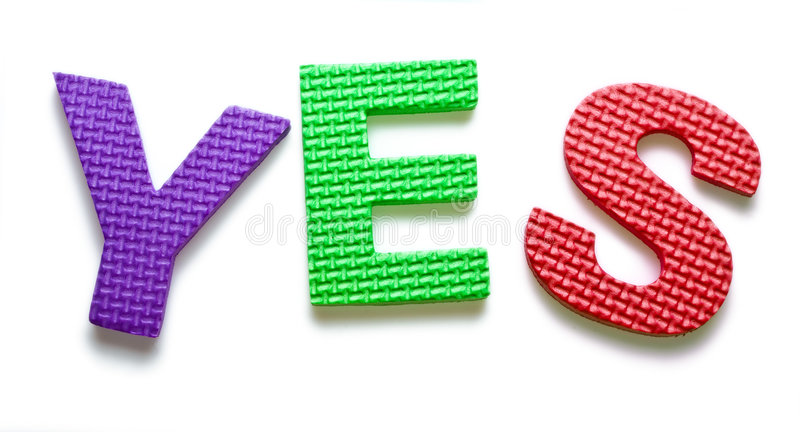 Download Word YES stock image. Image of culture, language, colour - 3307877