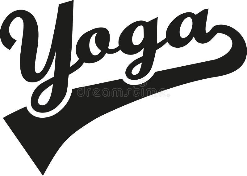 Yoga word retro vector illustration