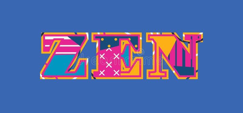 Zen Concept Word Art Illustration vector illustration