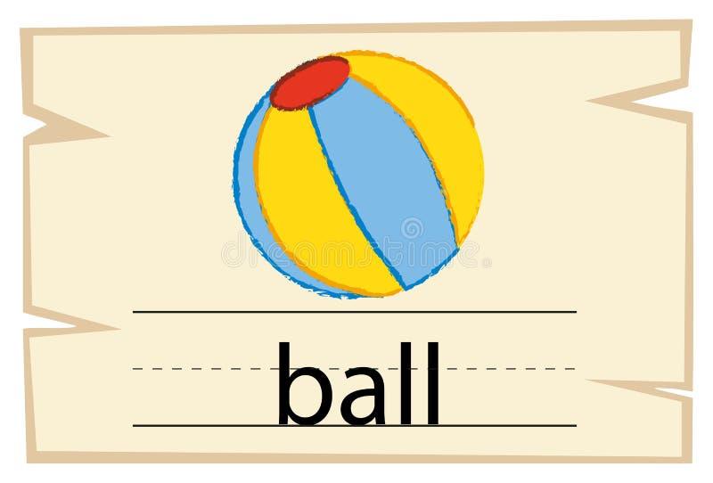 Wordcard для шарика слова бесплатная иллюстрация