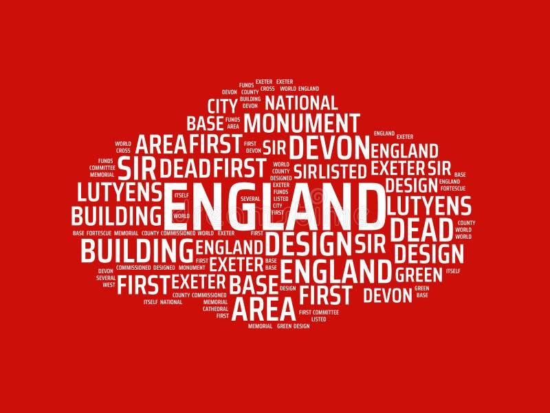Wordcloud με την κύρια λέξη Αγγλία και τις σχετικές λέξεις, αφηρημένη απεικόνιση διανυσματική απεικόνιση