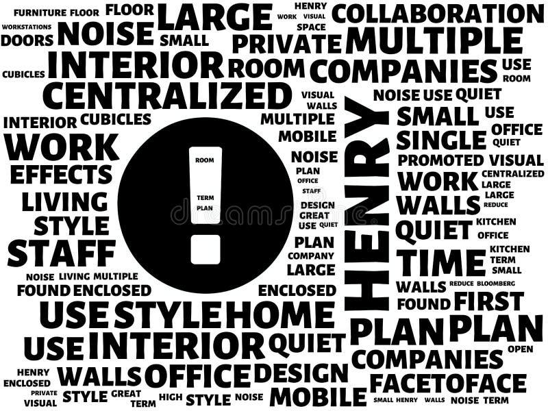 Wordcloud με την κύρια λέξη Henry και τις σχετικές λέξεις, αφηρημένη απεικόνιση ελεύθερη απεικόνιση δικαιώματος