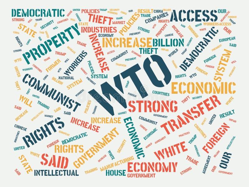 Wordcloud με τον κύριο ΠΟΕ λέξης και τις σχετικές λέξεις, αφηρημένη απεικόνιση διανυσματική απεικόνιση
