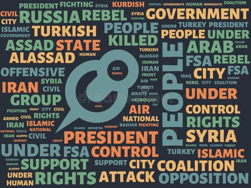Wordcloud με τους κύριους ανθρώπους λέξης και τις σχετικές λέξεις, αφηρημένη απεικόνιση ελεύθερη απεικόνιση δικαιώματος