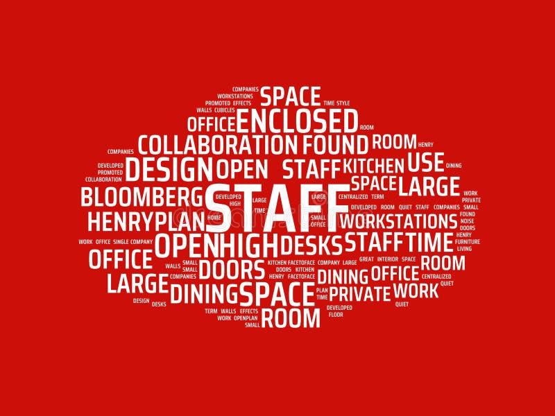 Wordcloud με το κύριο προσωπικό λέξης και τις σχετικές λέξεις, αφηρημένη απεικόνιση απεικόνιση αποθεμάτων