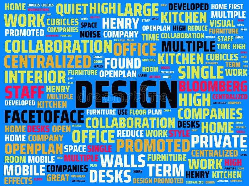 Wordcloud με το κύριο σχέδιο λέξης και τις σχετικές λέξεις, αφηρημένη απεικόνιση απεικόνιση αποθεμάτων
