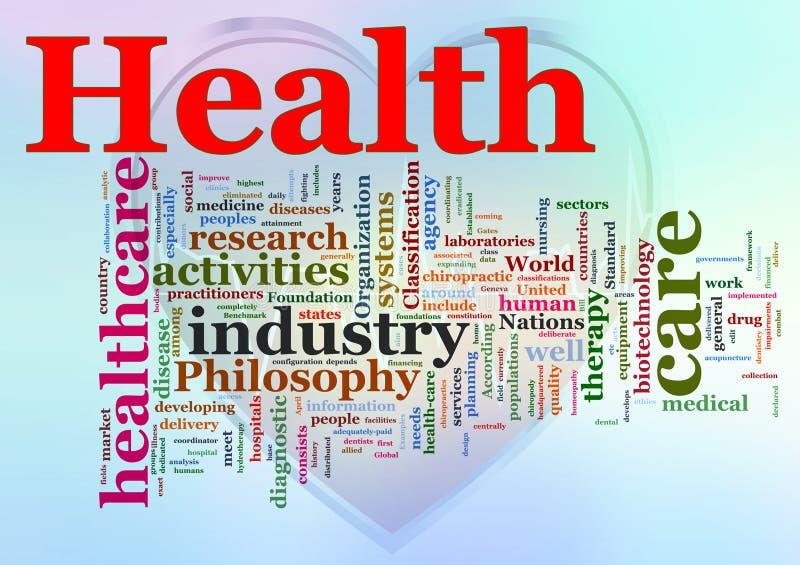 Wordcloud da saúde ilustração royalty free
