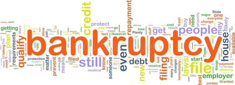 Wordcloud de Bankuptcy illustration de vecteur