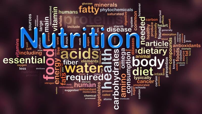 Wordcloud de la nutrition illustration de vecteur
