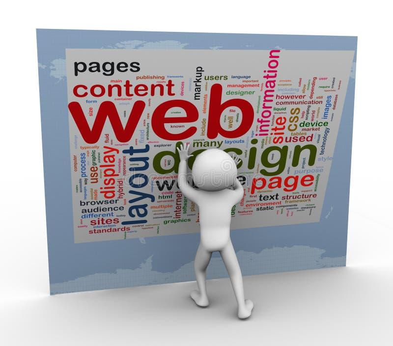 Wordcloud del diseño de Web stock de ilustración