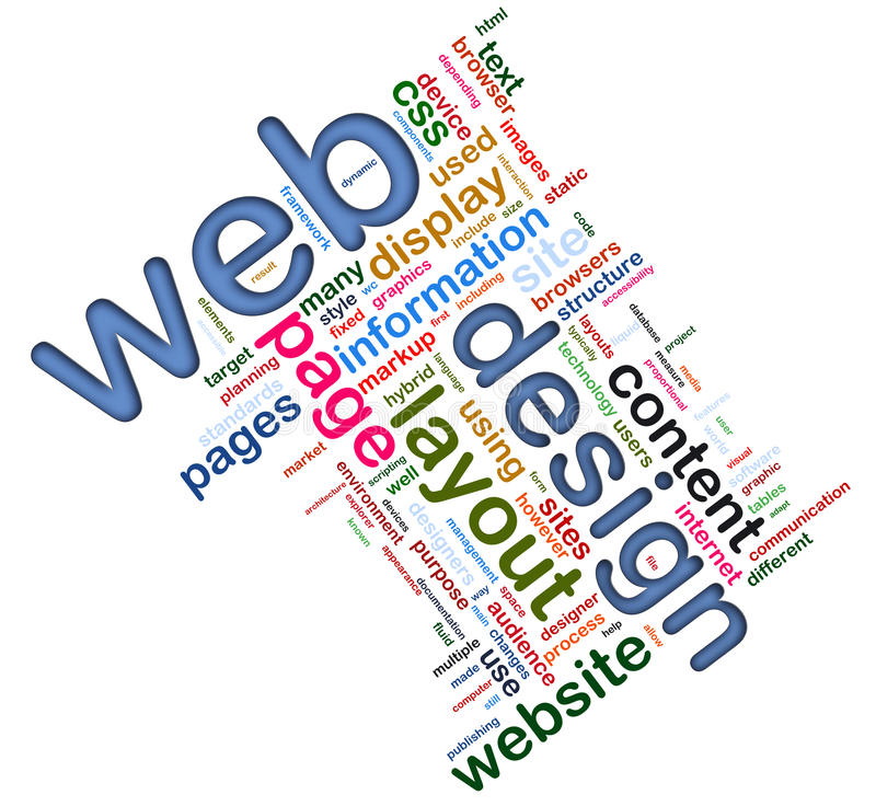 Wordcloud del disegno di Web illustrazione di stock