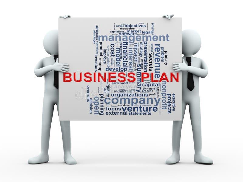wordcloud del plan empresarial de la gente 3d stock de ilustración