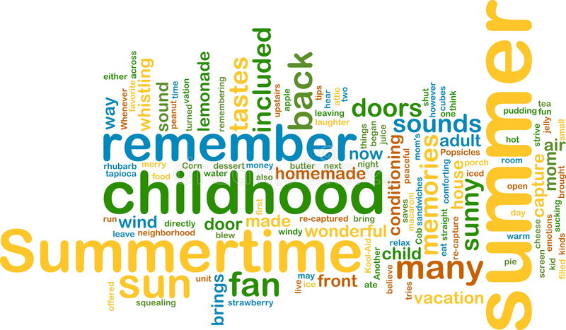 Wordcloud del verano libre illustration