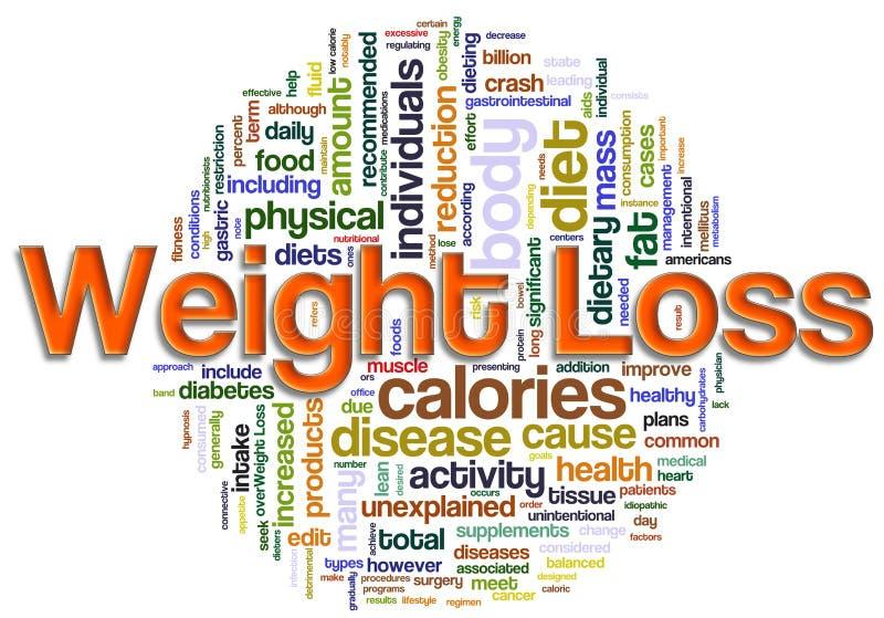 Wordcloud des Gewichtverlustes lizenzfreie abbildung