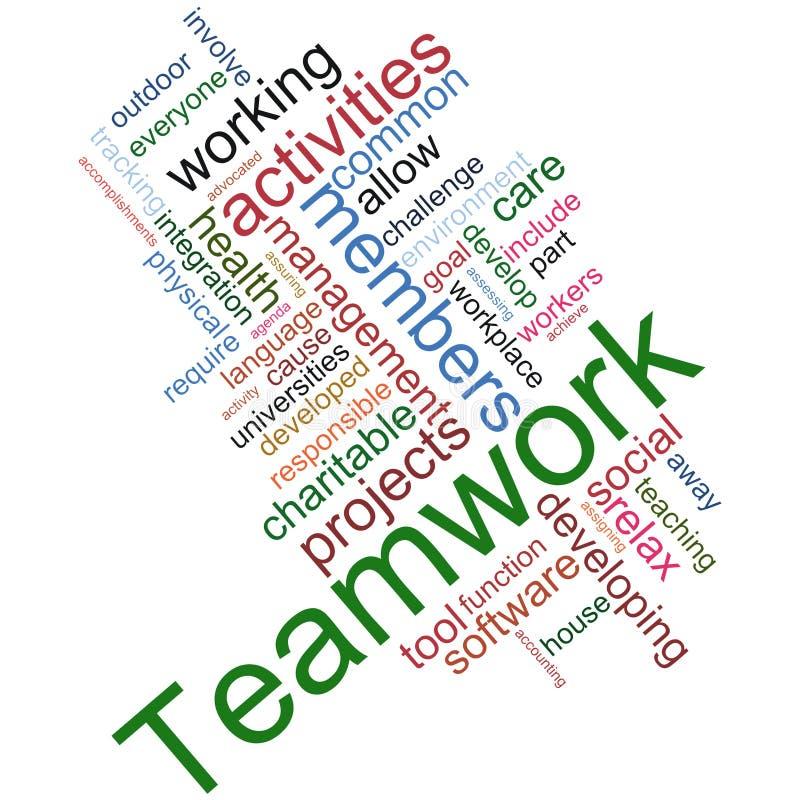 Wordcloud di lavoro di squadra illustrazione di stock