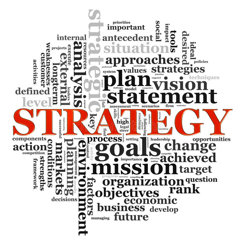 Wordcloud di strategia royalty illustrazione gratis