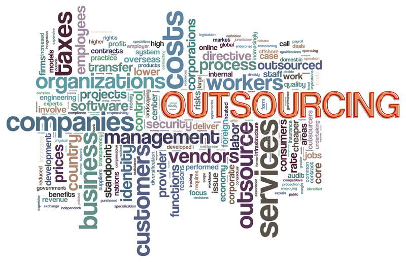 Download Wordcloud of outsourcing stock illustration. Image of design - 25322936