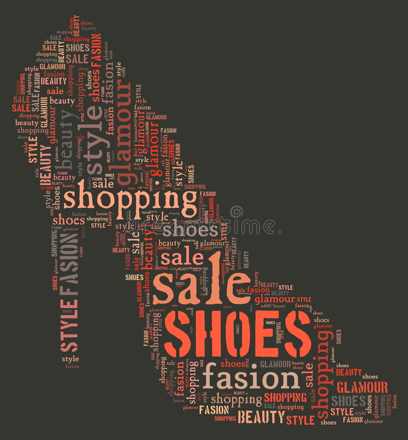 Download Wordcloud: Silhouette Of Shoes Royalty Free Stock Images - Image: 19624029