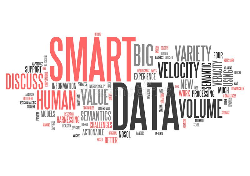 Wordcloud Smart Data royalty free illustration