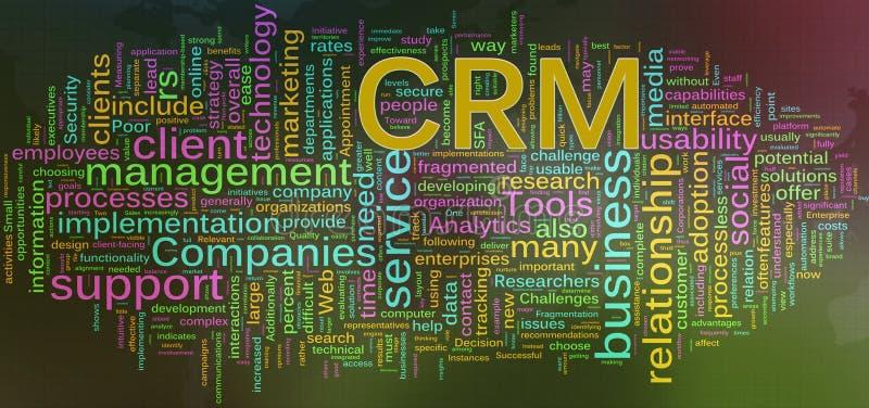 Wordcloud van CRM vector illustratie