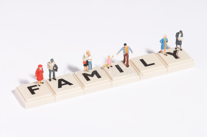 Wordgames- family royalty free stock image