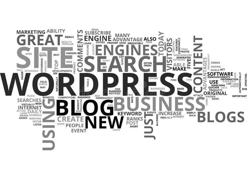 Wordpress博克做一朵伟大的企业站点词云彩 向量例证