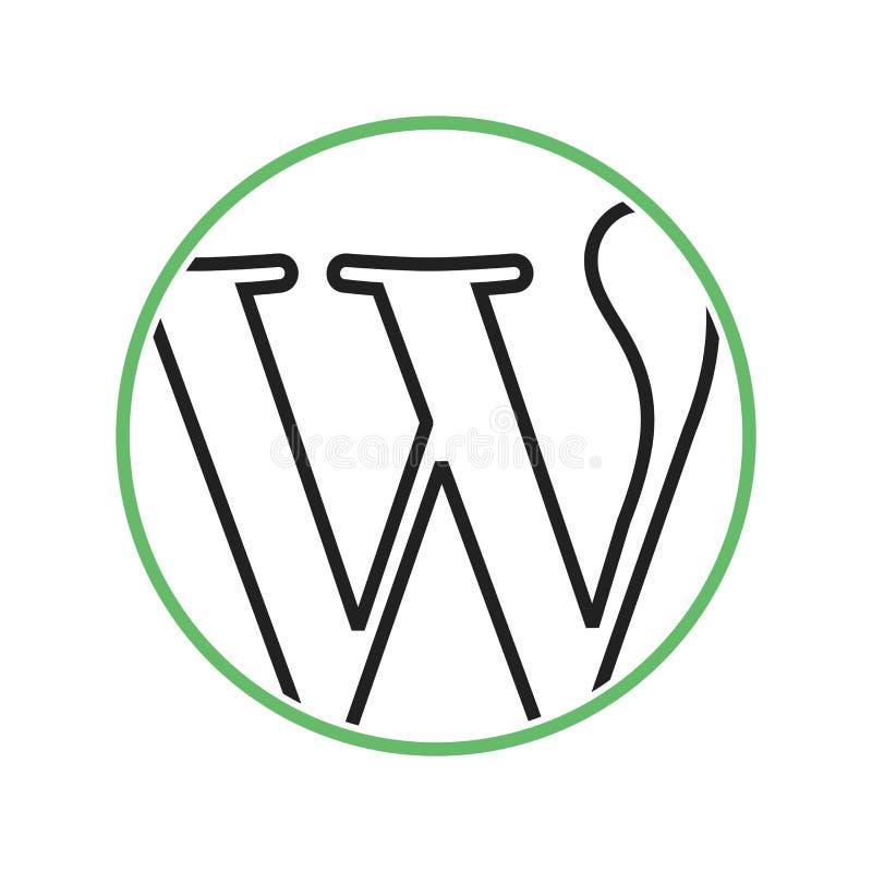 Download Wordpress redaktionell bild. Illustration av vektor, lokal - 78727861