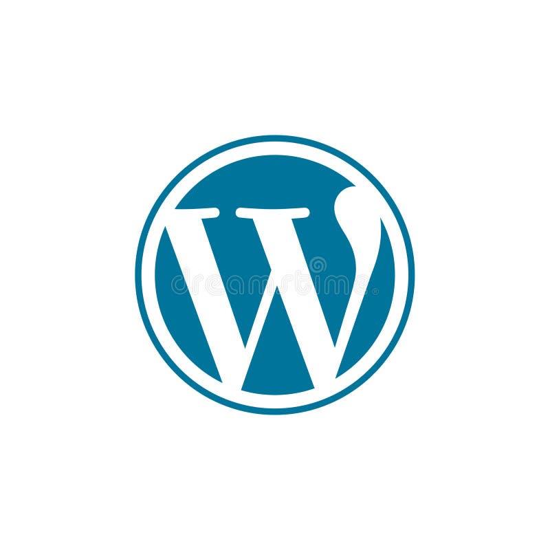 Wordpress Logo Vetora Illustration ilustração royalty free