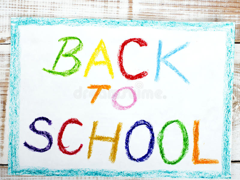 Words BACK TO SCHOOL stock illustration