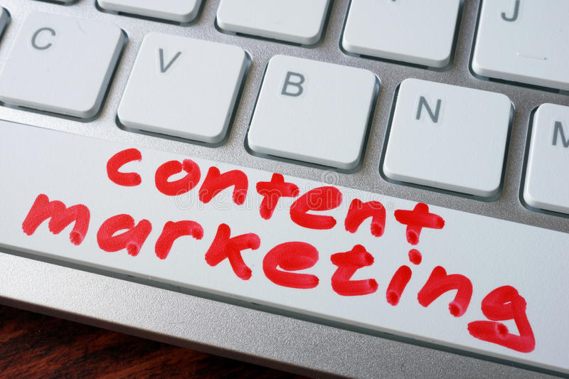Words content marketing. stock photos