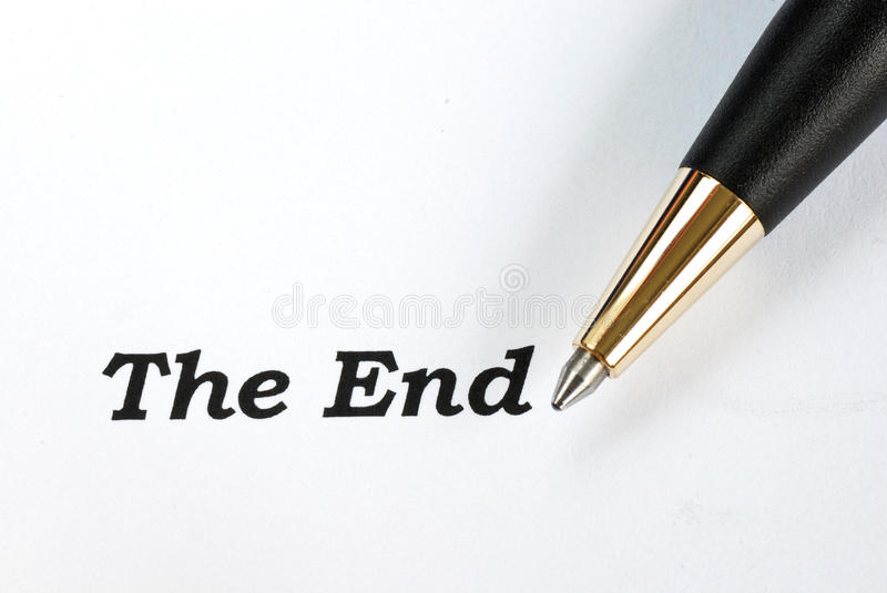 Download The words The End stock illustration. Image of sketch - 27500202
