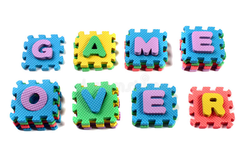Words Game Over royalty free stock photo