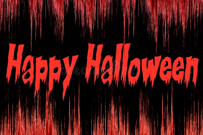 Happy Halloween written on a bloody background royalty free illustration