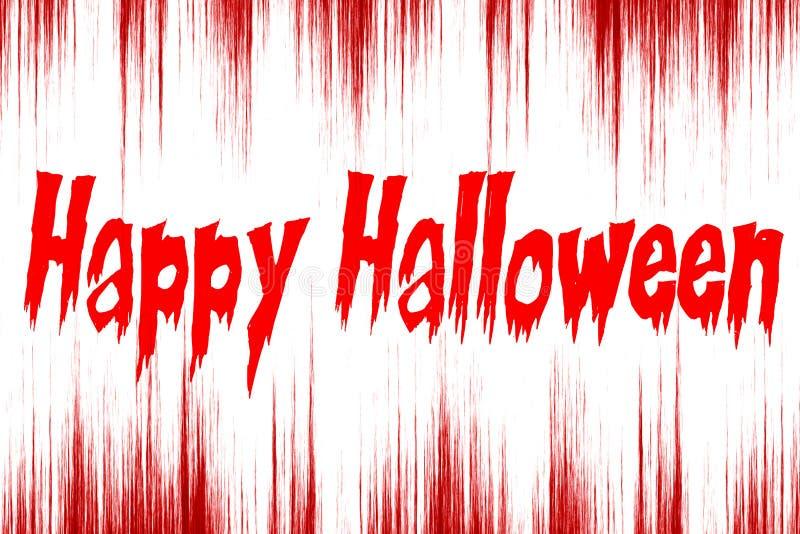 Happy Halloween written on bloody background stock illustration