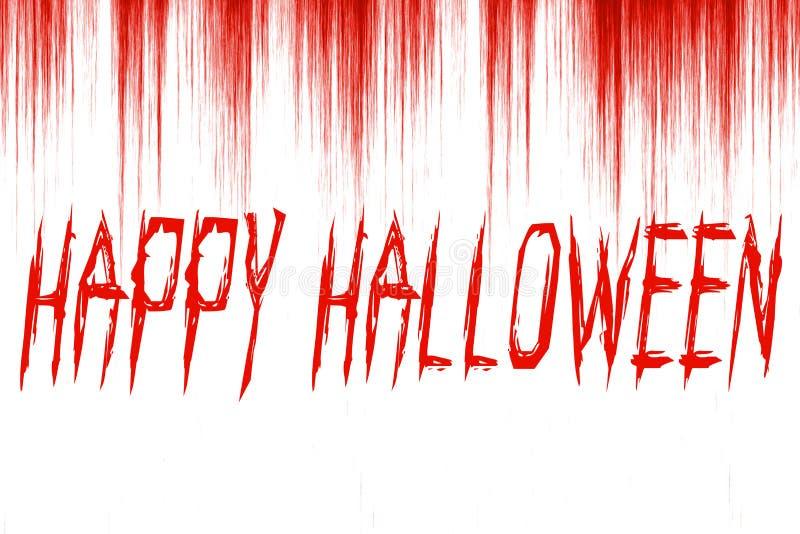 Happy Halloween written on bloody background vector illustration