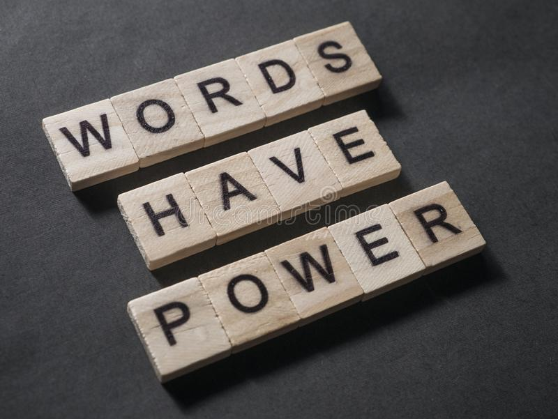 Words Have Power, Motivational Words Quotes Concept royalty free stock photo