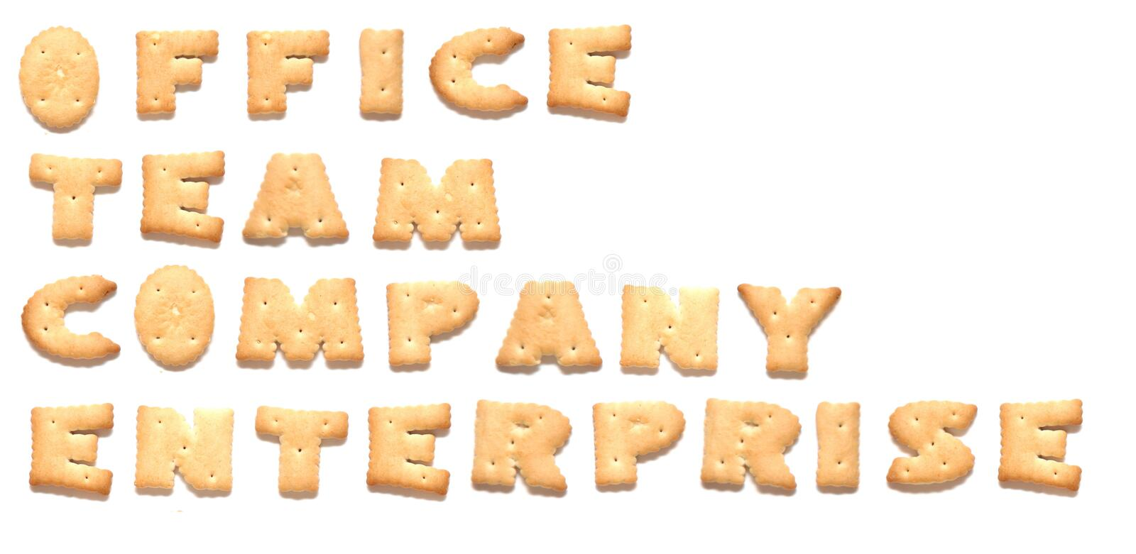 Download The words made of cookies stock image. Image of company - 8669603
