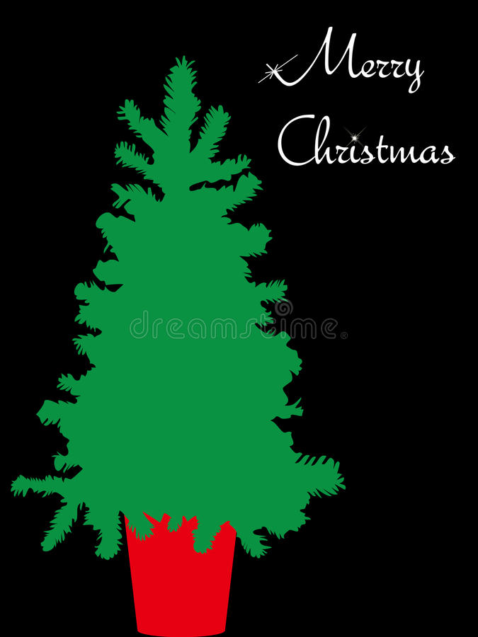 Download The Words Merry Christmas And Christmas Tree Stock Vector - Illustration of letter, winter: 22356823
