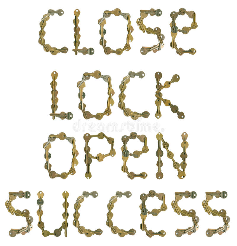 Free Words Of Keys Royalty Free Stock Image - 21729576
