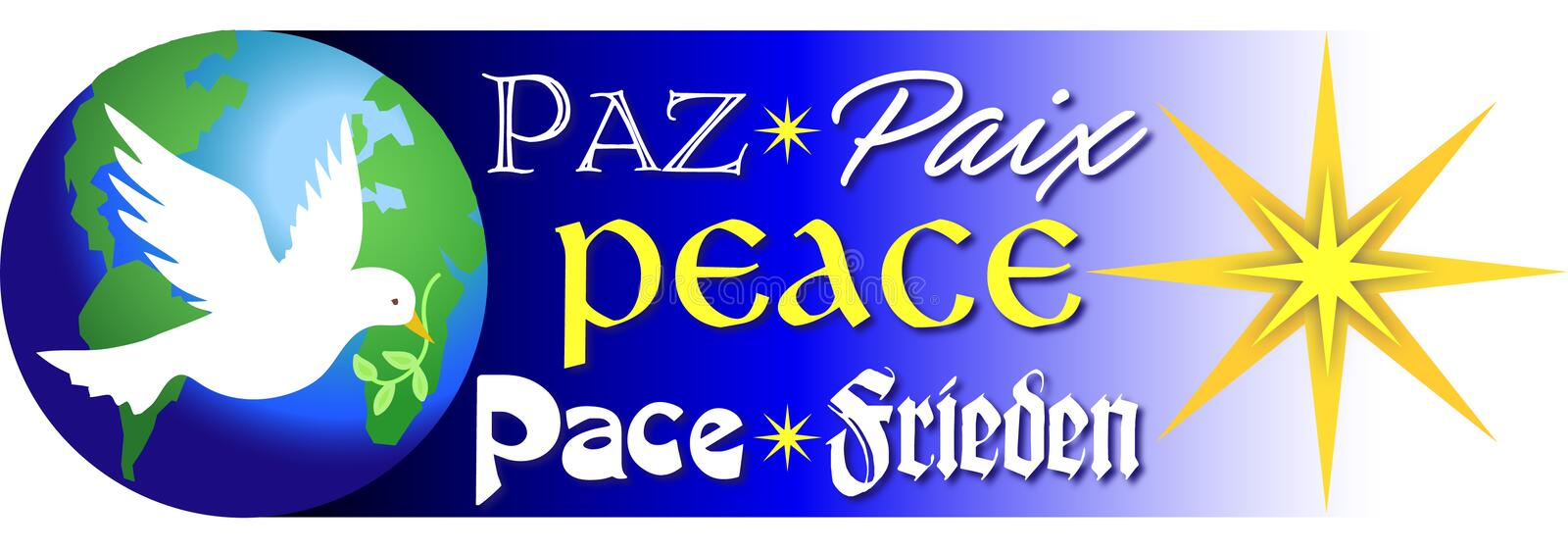 Words of Peace/eps royalty free illustration