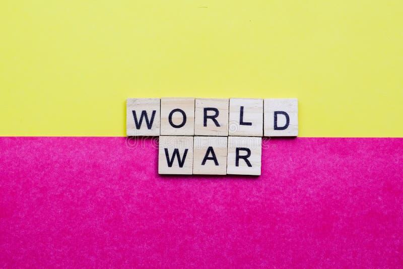 World War. Words on plain background ; World War stock images