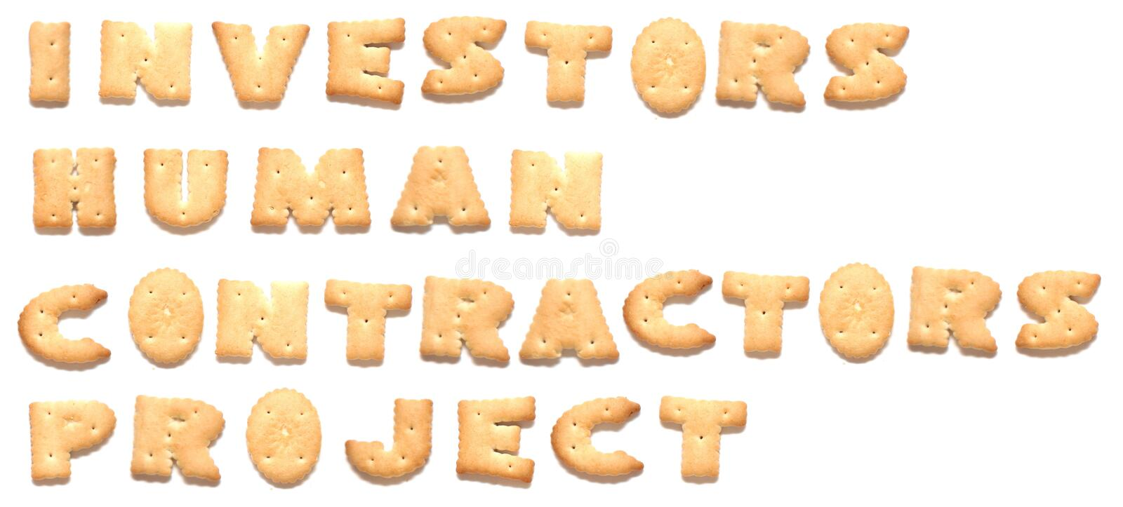 Download The Words Project Made Of Cookies Stock Photo - Image: 8669594