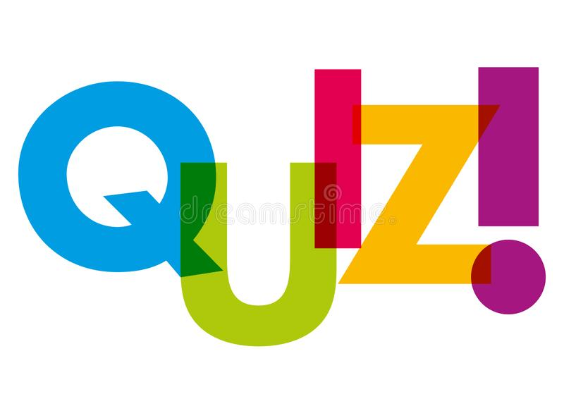 The words quiz written in color letters vector illustration